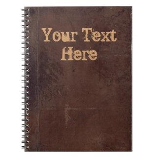 Vintage boekdekking, retro verbindend fauxleer ringband notitieboek