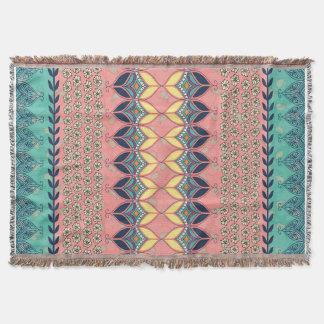 Vintage Boho Daisy Blanket Deken