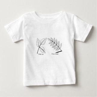 Vintage Botanische Bladeren Baby T Shirts