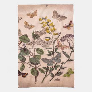Vintage Botanische BloemenIllustratie Wildflowers Theedoek
