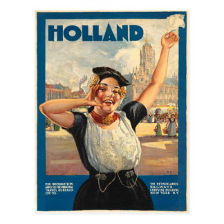 Vintage Briefkaart met de Druk van het Poster van