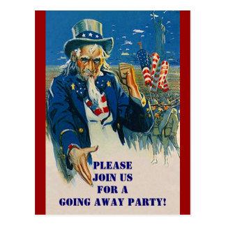Vintage Briefkaart Oom Sam Patriotic Invitation