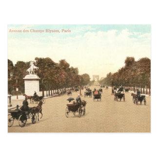 Vintage briefkaart van Champs DE Elysee