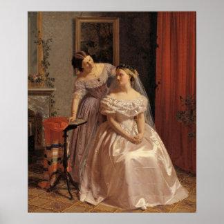 Vintage Bruid, Bruidsmeisje, het Art. van de Muur Poster