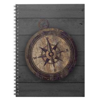 Vintage Bruin Kompas Notitieboek