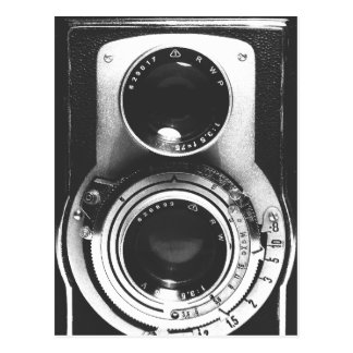 Vintage Camera b&w Briefkaart
