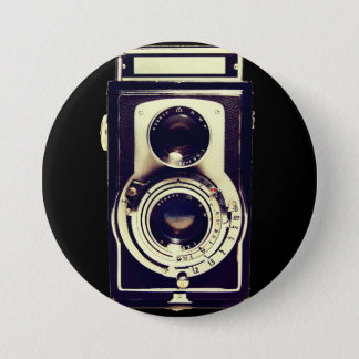Vintage camera ronde button 7,6 cm