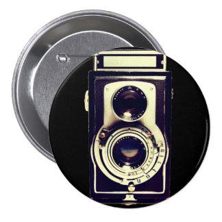Vintage camera ronde button 7,6 cm