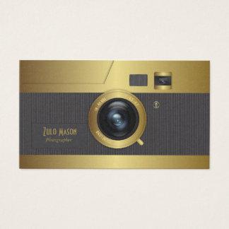 Vintage cameragoud visitekaartjes