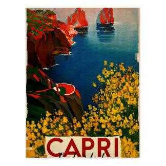 Vintage Capri L'Isola del Sole Italië Briefkaart