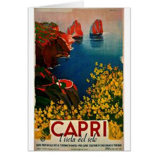 Vintage Capri L'Isola del Sole Italië Briefkaarten 0
