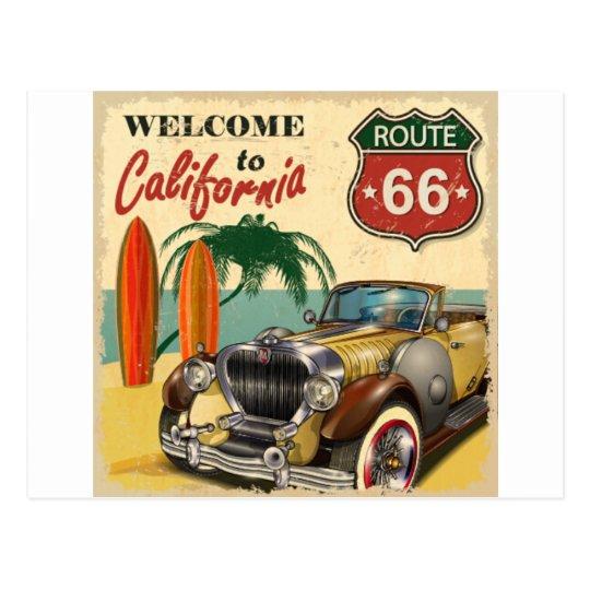 Vintage car poster briefkaart
