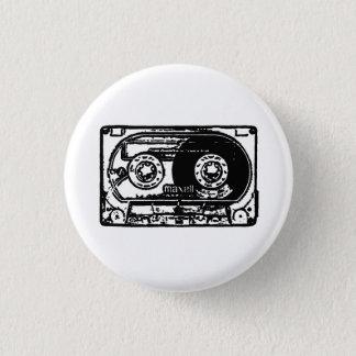 Vintage cassette ronde button 3,2 cm