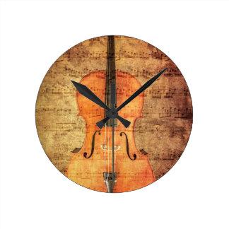 Vintage Cello Ronde Klok