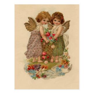 vintage cherubijnvalentijnskaart briefkaart