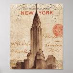 Vintage Chrysler die New York inbouwen Poster