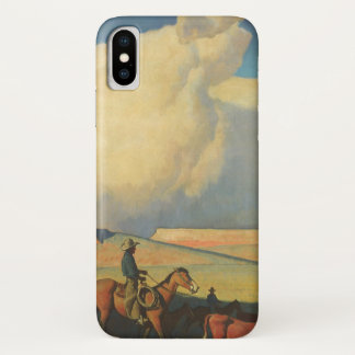 Vintage Cowboys, Open Waaier door Maynard Dixon iPhone X Hoesje