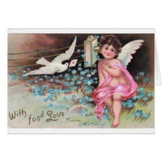 Vintage *Cute Cherab Angel* met het Ontwerp van de Briefkaarten 0