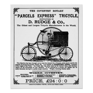Vintage Cyclus:   De Roterende Driewieler van Cove Poster