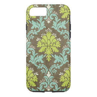 Vintage Damast Celadon en Aqua iPhone 7 Hoesje