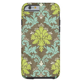 Vintage Damast Celadon en Aqua Tough iPhone 6 Hoesje