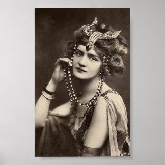 Vintage Dame Poster
