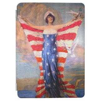 Vintage Dame van de Patriottische Amerikaanse Vlag iPad Air Cover