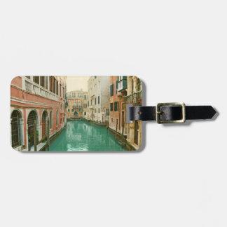 Vintage de bagagelabel van Venetië