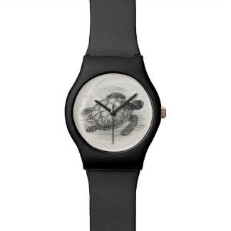 Vintage de Gepersonaliseerde Mariene Schildpadden Horloge