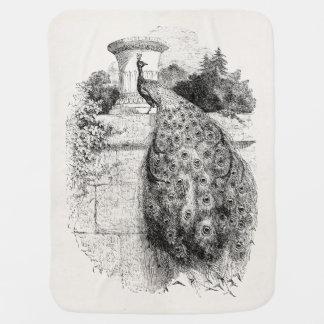 Vintage de Gepersonaliseerde Vogels Peafowl van de Inbakerdoek