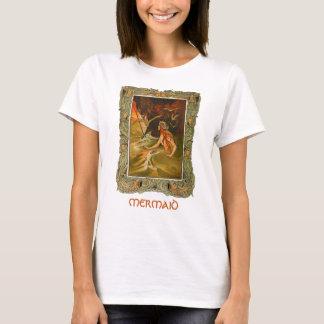 Vintage de meermin ontworpen t-shirt van de
