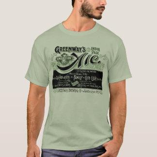 Vintage de Pale ale van Greenways India van het T Shirt
