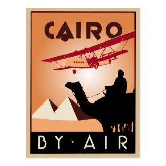 Vintage de reisart deco van Egypte Briefkaart