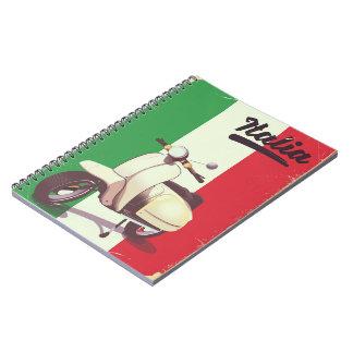 Vintage de reisposter van de Autoped van Italië Ringband Notitieboek