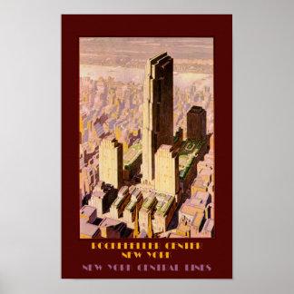 Vintage de reisposter van de Stad van New York Poster