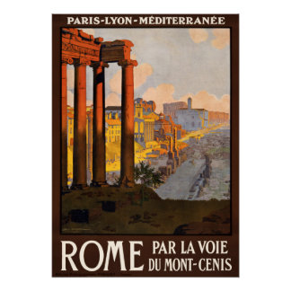 Vintage de reisposter van Rome Italië Poster