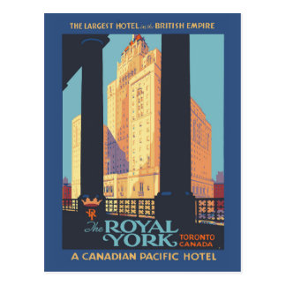 Vintage de reisposter van Toronto Canada Briefkaart