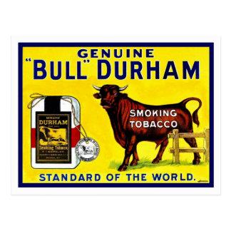 Vintage de tabaksadvertentie van Durham van de Briefkaart