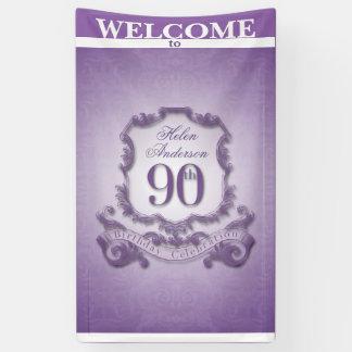 Vintage de vieringsBanner van de lijst negentigste Spandoek
