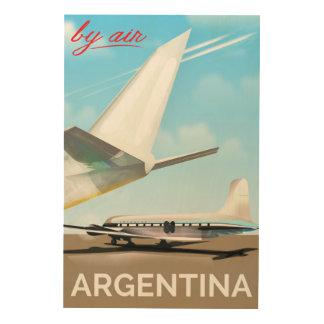 """Vintage de vluchtposter """"door van de Lucht"""" van Hout Afdruk"""