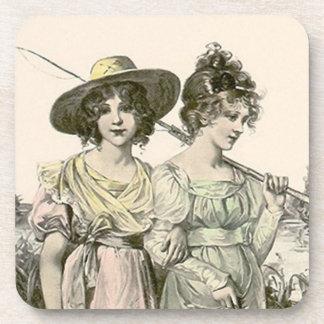 Vintage de vriendenOvervloed van de Vissers van Drankjes Onderzetters