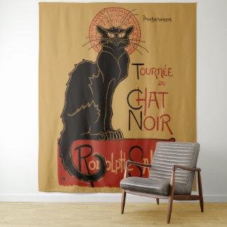 Vintage de Zwarte Kat van Le Chat Noir van de Wandkleed