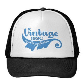 Vintage die BLAD aan perfectie 1990 blauwe t-shirt Mesh Pet