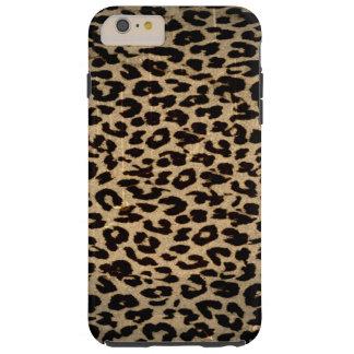 Vintage dierlijke textuur van luipaard tough iPhone 6 plus hoesje