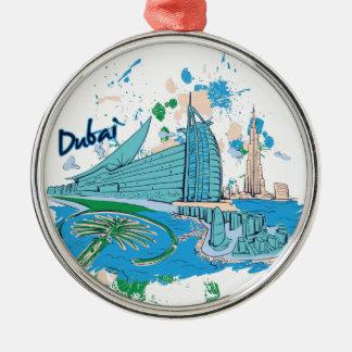 vintage Doubai ons eontwerp Zilverkleurig Rond Ornament