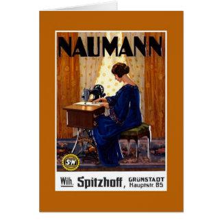 Vintage Duitse adverterene naaimachine Wenskaart