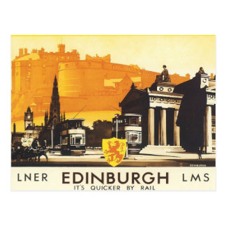 Vintage Edinburgh LNER Briefkaart