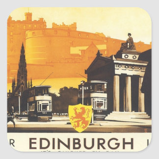Vintage Edinburgh LNER Vierkant Sticker