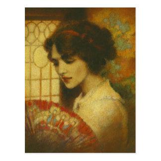 Vintage Edwardian Dame Postcard Briefkaart