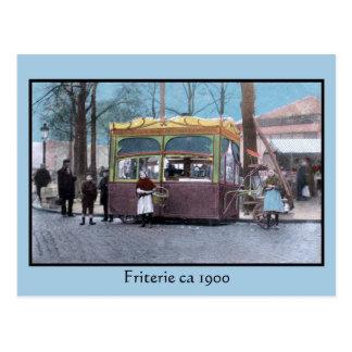 vintage eeuwwisseling friterie briefkaart